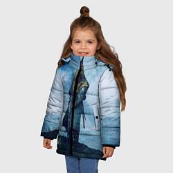 Куртка зимняя для девочки Battlefield Warrior цвета 3D-черный — фото 2