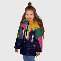 Куртка зимняя для девочки Coldplay цвета 3D-черный — фото 2