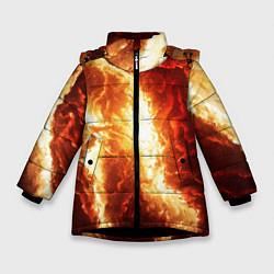 Куртка зимняя для девочки Gates of hades цвета 3D-черный — фото 1