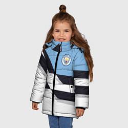 Куртка зимняя для девочки Manchester City FC: White style цвета 3D-черный — фото 2