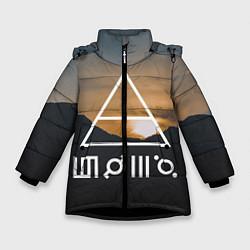 Куртка зимняя для девочки 30 STM: Sunset цвета 3D-черный — фото 1