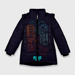 Куртка зимняя для девочки Blade Runner Guns цвета 3D-черный — фото 1