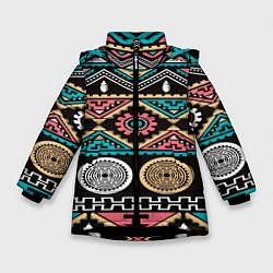 Куртка зимняя для девочки Этника цвета 3D-черный — фото 1