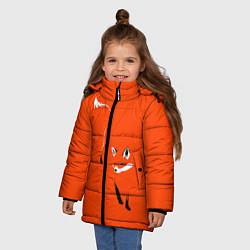 Куртка зимняя для девочки Лисица цвета 3D-черный — фото 2
