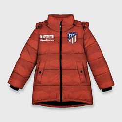 Куртка зимняя для девочки Atletico Madrid: Red Ellipse цвета 3D-черный — фото 1