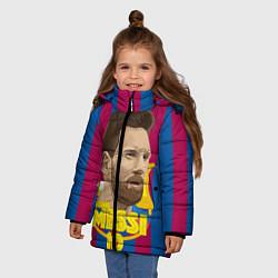 Куртка зимняя для девочки FCB Lionel Messi цвета 3D-черный — фото 2