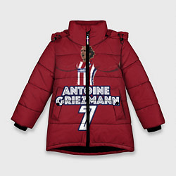 Куртка зимняя для девочки Antoine Griezmann 7 цвета 3D-черный — фото 1