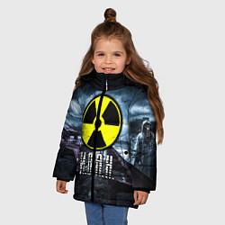 Куртка зимняя для девочки S.T.A.L.K.E.R: Иван цвета 3D-черный — фото 2