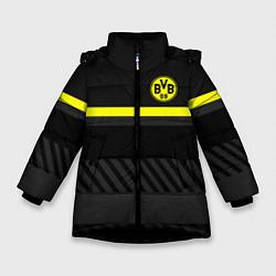 Куртка зимняя для девочки FC Borussia 2018 Original #3 цвета 3D-черный — фото 1