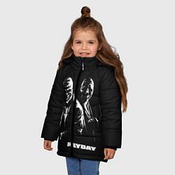 Куртка зимняя для девочки Payday цвета 3D-черный — фото 2