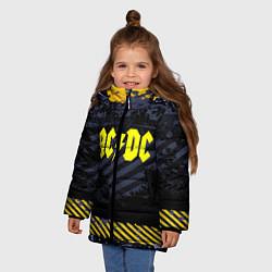 Куртка зимняя для девочки AC/DC: Danger Style цвета 3D-черный — фото 2