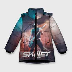 Куртка зимняя для девочки Skillet: John Cooper цвета 3D-черный — фото 1