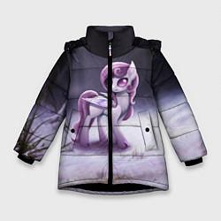 Детская зимняя куртка для девочки с принтом Violet Pony, цвет: 3D-черный, артикул: 10146367906065 — фото 1
