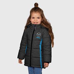 Детская зимняя куртка для девочки с принтом MAZDA SPORT, цвет: 3D-черный, артикул: 10146442906065 — фото 2