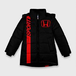 Куртка зимняя для девочки HONDA SPORT цвета 3D-черный — фото 1