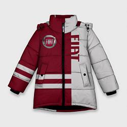 Куртка зимняя для девочки Fiat цвета 3D-черный — фото 1