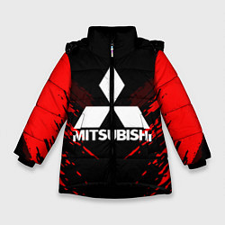 Куртка зимняя для девочки Mitsubishi: Red Anger цвета 3D-черный — фото 1