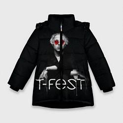 Детская зимняя куртка для девочки с принтом T-Fest: Black Style, цвет: 3D-черный, артикул: 10147368106065 — фото 1