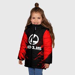 Куртка зимняя для девочки Lexus: Red Anger цвета 3D-черный — фото 2