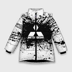 Куртка зимняя для девочки Mitsubishi: Black Spray цвета 3D-черный — фото 1