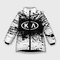 Куртка зимняя для девочки KIA: Black Spray цвета 3D-черный — фото 1