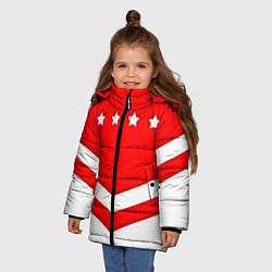 Куртка зимняя для девочки Звезды Спартака цвета 3D-черный — фото 2