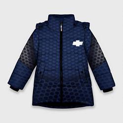 Куртка зимняя для девочки Chevrolet: Sport Motors цвета 3D-черный — фото 1