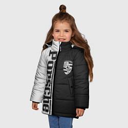 Куртка зимняя для девочки Porsche W&B цвета 3D-черный — фото 2