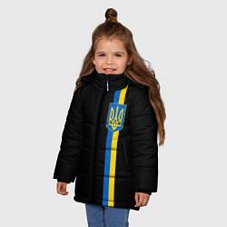 Детская зимняя куртка для девочки с принтом Украина, цвет: 3D-черный, артикул: 10148452306065 — фото 2
