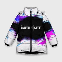 Куртка зимняя для девочки Rainbow Six Siege: Color Style цвета 3D-черный — фото 1