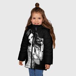 Куртка зимняя для девочки Sexy Girl: Black & White цвета 3D-черный — фото 2