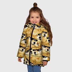 Куртка зимняя для девочки Doge: Deal with it цвета 3D-черный — фото 2