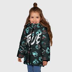 Куртка зимняя для девочки Avicii: True цвета 3D-черный — фото 2