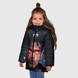 Куртка зимняя для девочки XXXTentacion Demon цвета 3D-черный — фото 2