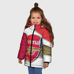 Куртка зимняя для девочки FC Arsenal цвета 3D-черный — фото 2