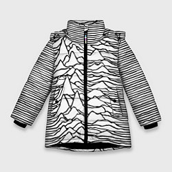 Куртка зимняя для девочки White Pleasures цвета 3D-черный — фото 1