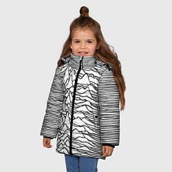 Детская зимняя куртка для девочки с принтом White Pleasures, цвет: 3D-черный, артикул: 10152526906065 — фото 2