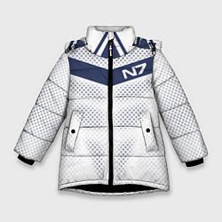 Куртка зимняя для девочки N7: White Armor цвета 3D-черный — фото 1