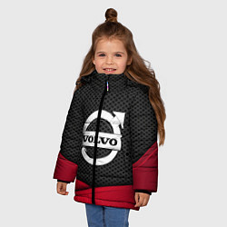 Куртка зимняя для девочки Volvo: Grey Carbon цвета 3D-черный — фото 2