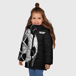 Куртка зимняя для девочки Болельщик России цвета 3D-черный — фото 2