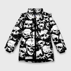 Куртка зимняя для девочки Черепа ужаса цвета 3D-черный — фото 1