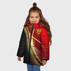 Куртка зимняя для девочки RUSSIA SPORT: Gold Collection цвета 3D-черный — фото 2