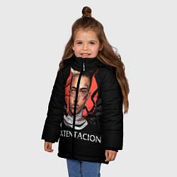 Куртка зимняя для девочки XXXTentacion: Angel & Demon цвета 3D-черный — фото 2