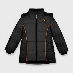 Куртка зимняя для девочки Lamborghini Style цвета 3D-черный — фото 1