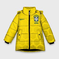 Куртка зимняя для девочки Brazil Team: WC 2018 цвета 3D-черный — фото 1