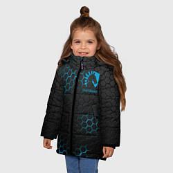Детская зимняя куртка для девочки с принтом Team Liquid: Carbon Style, цвет: 3D-черный, артикул: 10154882906065 — фото 2