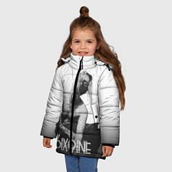 Куртка зимняя для девочки 6IX9INE цвета 3D-черный — фото 2