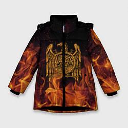 Куртка зимняя для девочки Slayer: Fire Eagle цвета 3D-черный — фото 1