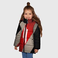 Куртка зимняя для девочки Skrillex Style цвета 3D-черный — фото 2