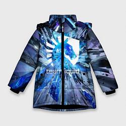 Куртка зимняя для девочки Team Liquid: Splinters цвета 3D-черный — фото 1